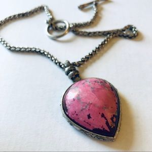 🍀Lucky Brand🍀koi pink stone necklace